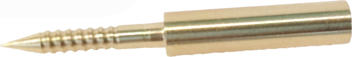 Адаптер-иголка A2S GUN №4, латунь, резьба мама, дюймовая, 5/40 для StilCrin, MegaLine, Nimar пневматика 4,5, патч для чистки оружия a2s gun 5 5 пневматика 22 lr 6 0 мм 500 шт