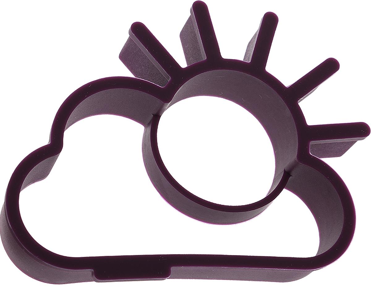"Форма для яичницы Paterra ""Солнышко"", цвет: фиолетовый, 13,5 х 10 х 2,4 см"