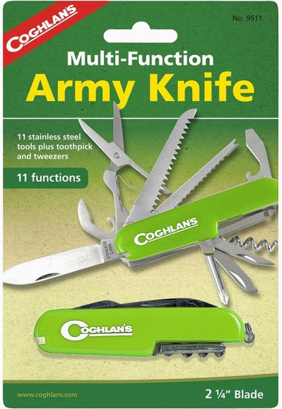 Нож туристический Coghlan's, 11 функций, цвет: зеленый. 9511