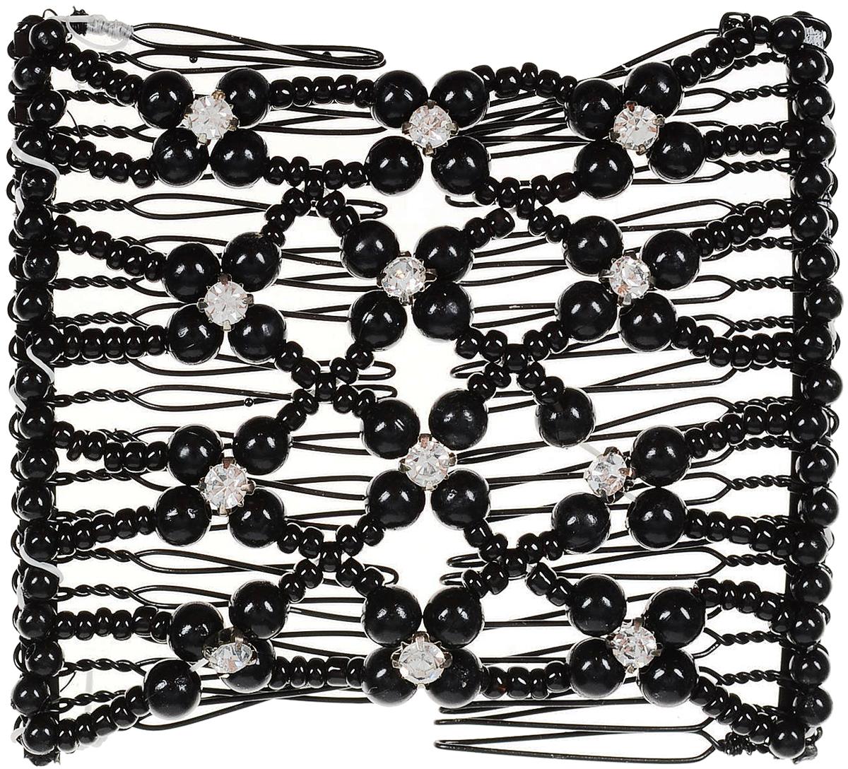 EZ-Combs Заколка Изи-Комбс, одинарная, цвет: черный. ЗИО_цветочки