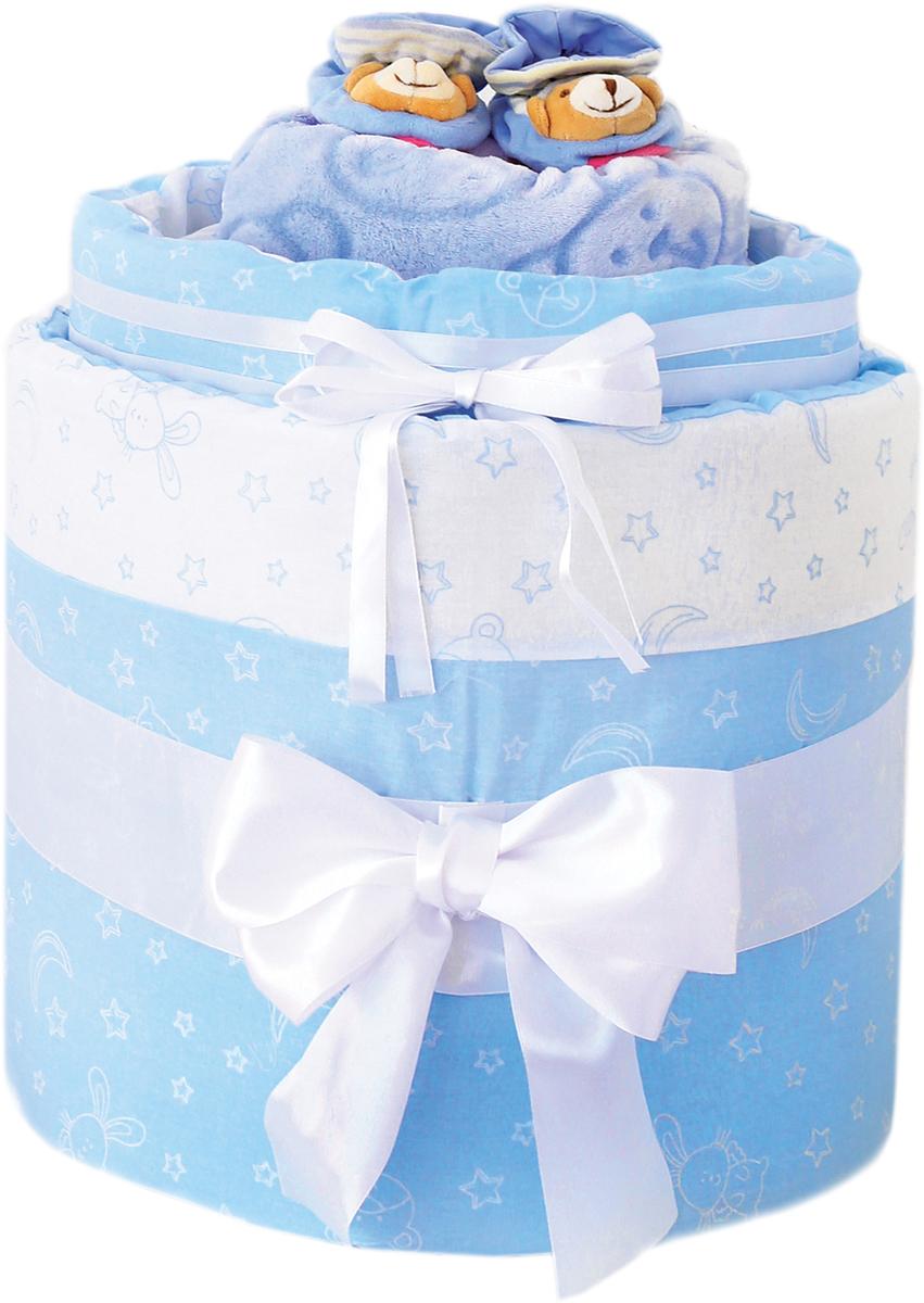 Baby Nice Подарочный комплект для новорожденного №02 Луна и звезды цвет голубой baby nice подарочный набор для новорожденного baby nice облака голубой