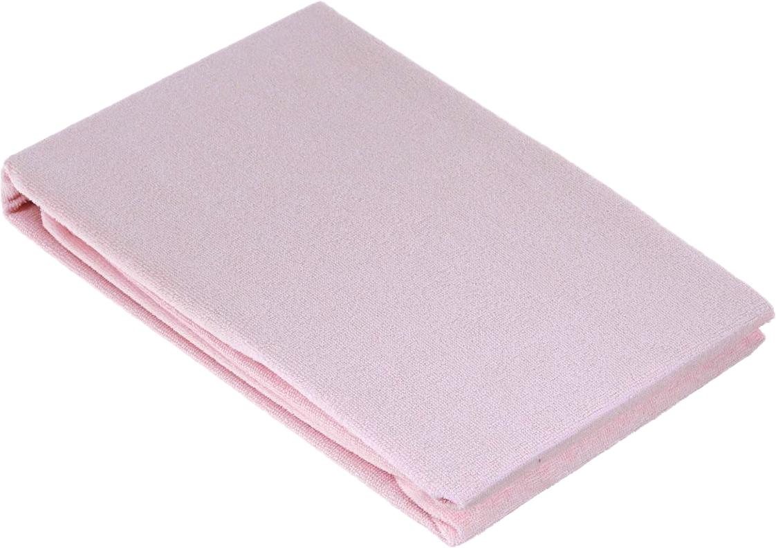 Baby Nice Наматрасник 60 х 120 см цвет розовый + слюнявчик