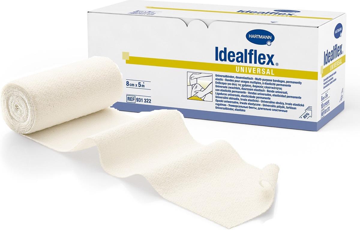 Idealflex UniversalСреднерастяжимый эластичный бинт, 5 м х 8 см Paul Hartmann
