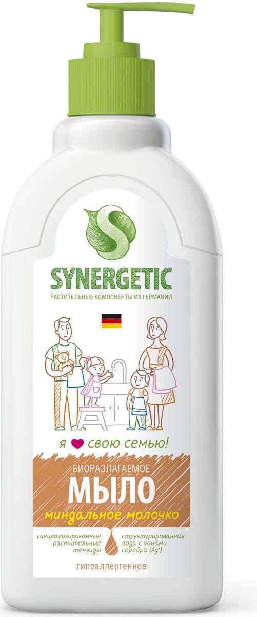 """Жидкое мыло """"Миндальное молочко"""" – яркий и запоминающийся аромат миндаля и густая сливочная текстура. Классика ароматической палитры для успокаивающего мытья рук и тела. С этим жидким мылом кожа станет не только чистой, но и невероятно нежной. Мыло гипоаллергенное и обладает эффектом увлажнения, создано полностью из растительных компонентов."""