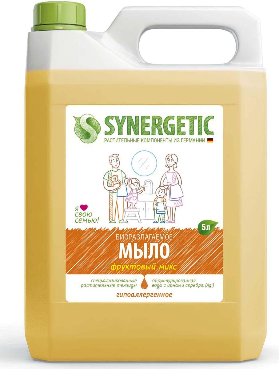 """Жидкое мыло """"Фруктовый микс"""" – самый свежий аромат лета! Яркий фруктовый фьюжн для лучшего пробуждения и очищения от любых загрязнений рук и тела. Просто создано для абсолютных любителей сладких ароматов. С этим жидким мылом кожа станет не только чистой, но и невероятно нежной. Мыло гипоаллергенное и обладает эффектом увлажнения, создано полностью из растительных компонентов."""