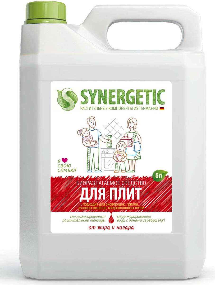 Средство Synergrtic для мытья кухонных плит, сковородок, духовых шкафов, 5 л