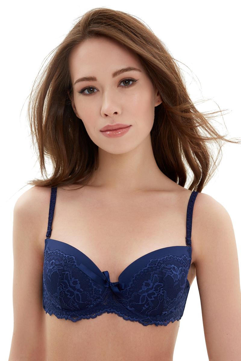 Бюстгальтер Infinity Lingerie T-Shirt Versailles, цвет: синий. 31204110694_500. Размер 80C (48)
