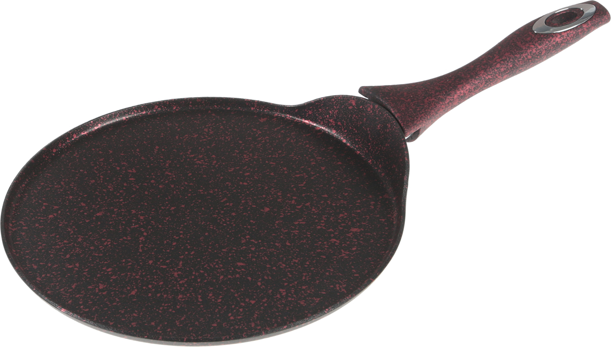 Блинная сковорода с мраморной крошкой MAYER&BOCH выполнена из литого алюминия с антипригарным покрытием особой прочности. Дно сковороды прочное, устойчиво к повреждениям и деформации. Жаропрочное покрытие защищает сковороду от царапин. Покрытие экологически чистое и полностью безопасное, без вредных соединений и примесей. Сковорода легко чистится за счет того, что еда не пристает к покрытию сковороды. Сковорода снабжена эргономичной бакелитовой ручкой, которая не нагревается в процессе приготовления пищи. Подходит для использования на всех типах плит, кроме индукционных. Подходит для мытья в посудомоечной машине.