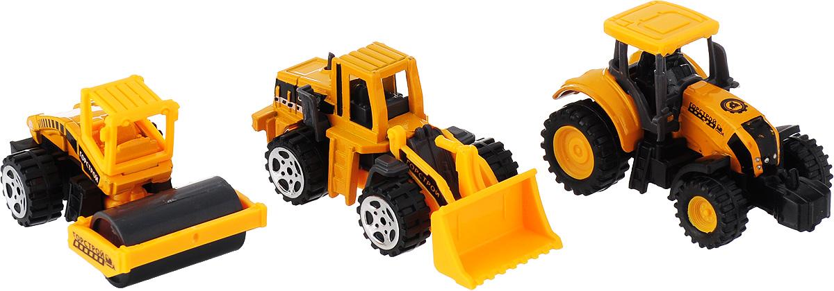 Технопарк Набор машинок Строительная техника 3 шт технопарк набор машинок строительная техника экскаватор трактор 2 шт