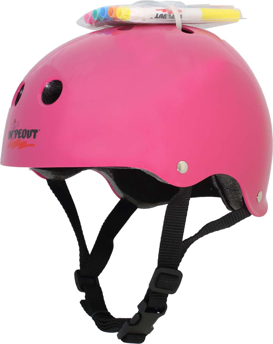 Шлем Wipeout, с фломастерами, цвет: розовый. Размер L (8+)
