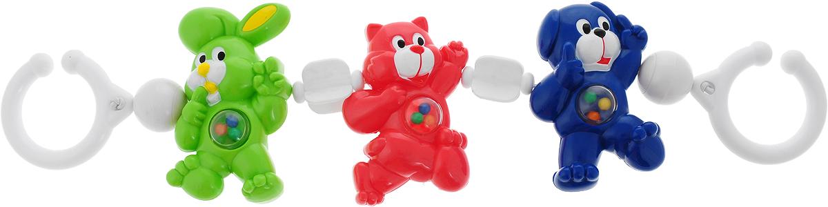 Canpol Babies Игрушка подвесная с погремушкой Зайка кошка собачка цвет зеленый розовый синий электрогитара ibanez rgd2127z prestige 7 string