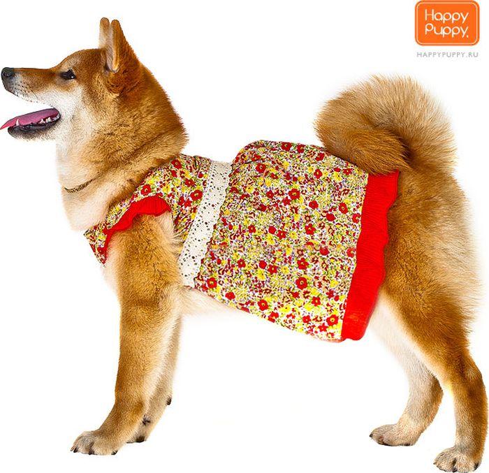 """Платье для собак Happy Puppy """"Кармен"""", для девочки. Размер 4 (XL)"""