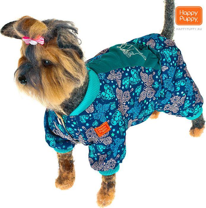 Комбинезон для собак Happy Puppy Вдохновение, для девочки, цвет: бирюзовый. Размер 4 (XL)