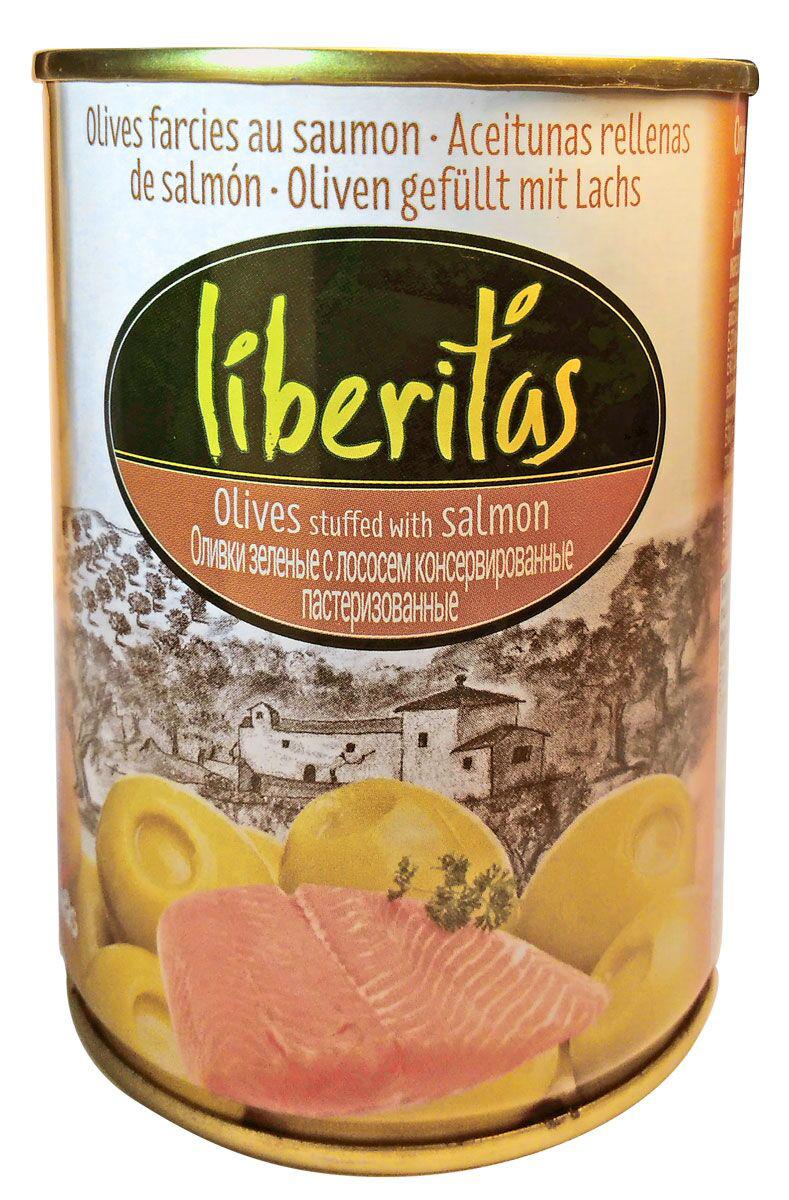 Liberitas Оливки зеленые с лососем, 280 г оливки зелёные delphi без косточки в рассоле 350 г