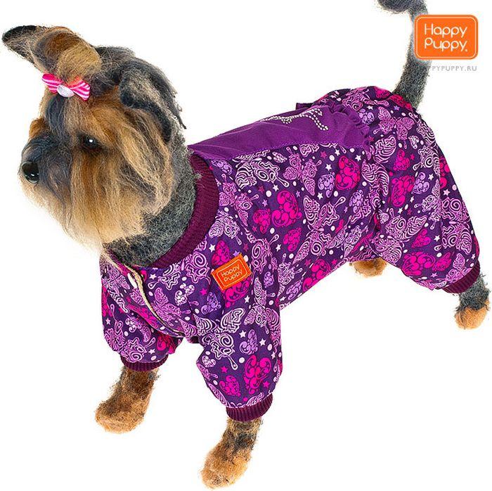 Комбинезон для собак Happy Puppy Вдохновение, для девочки, цвет: сиреневый. Размер 4 (XL)