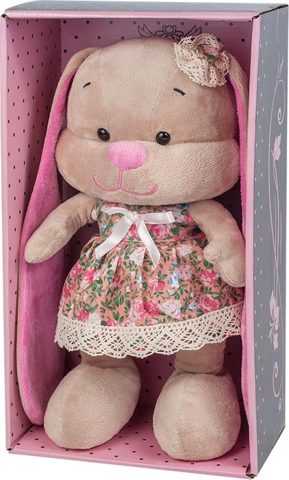 Jack & Lin Мягкая игрушка Зайка в летнем платье 25 см футболка lin show 367