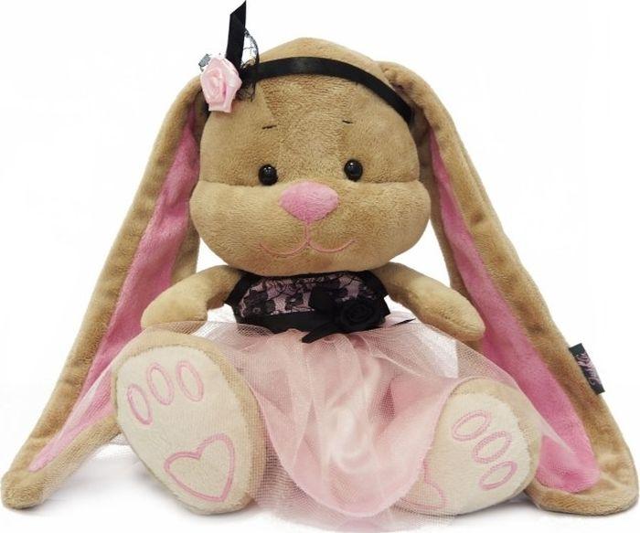 Jack & Lin Мягкая игрушка Зайка в розово-черном платье 25 см футболка lin show 367