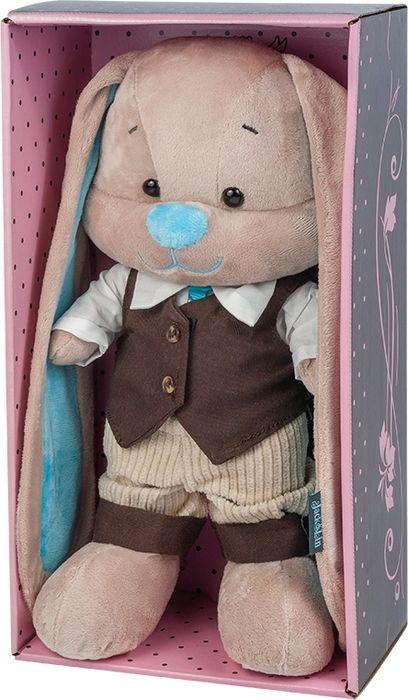 Jack & Lin Мягкая игрушка Зайчик в коричневой жилетке 25 см блузка lin show 8898