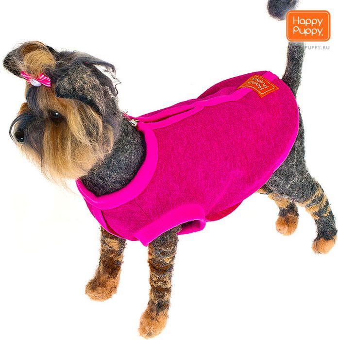 "Толстовка для собак Happy Puppy ""Спорт"", унисекс, цвет: фуксия. Размер 3 (L)"