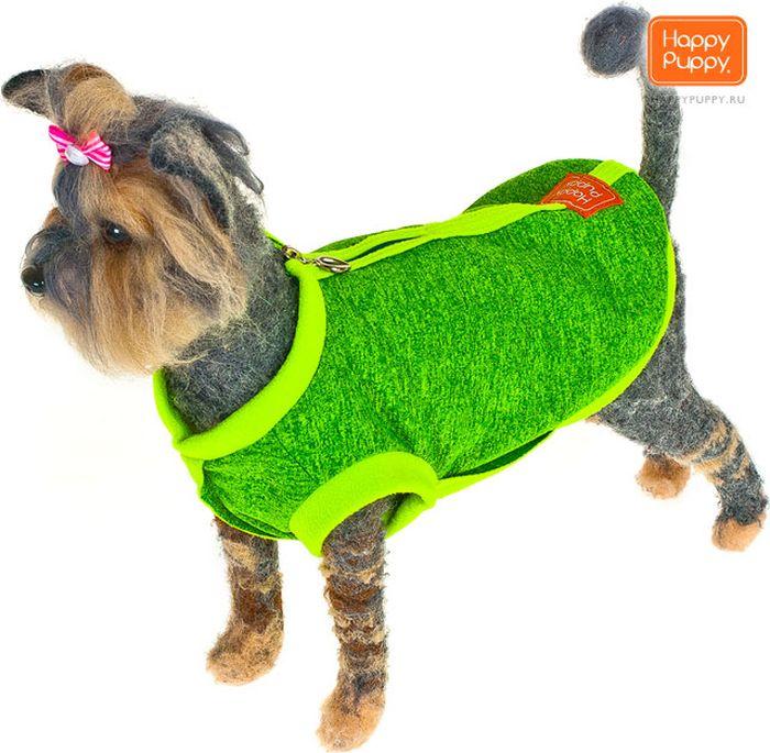 """Толстовка для собак Happy Puppy """"Спорт"""", унисекс, цвет: зеленый. Размер 3 (L)"""