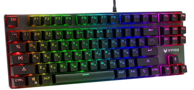 Фото - Rapoo V500RGB Alloy, Black игровая клавиатура игровая клавиатура rapoo v500rgb alloy blue switch