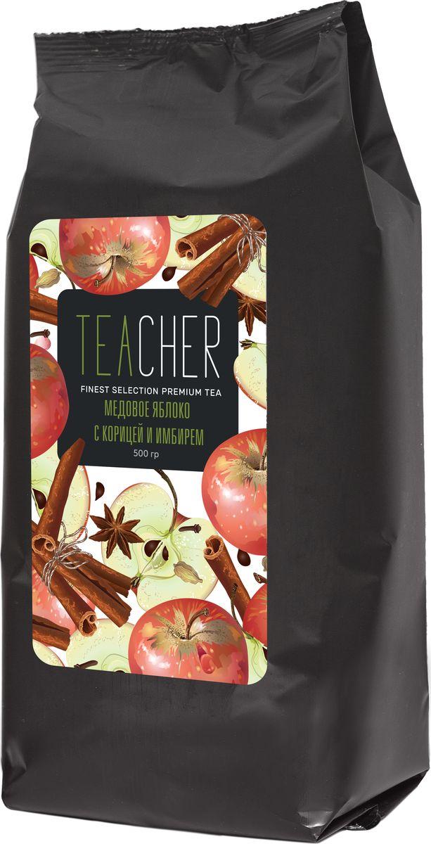 Teacher Медовое яблоко с имбирем чай листовой, 500 г чай teacher чай teacher цейлон ува ор1 500г