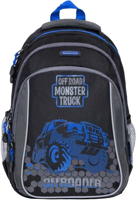 Grizzly Рюкзак школьный цвет черный синий RB-860-4/1