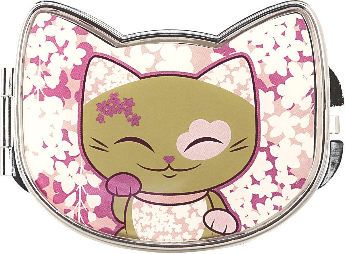 "Фото Зеркало карманное Mani The Lucky Cat ""Кот Удачи"". Код MF083"