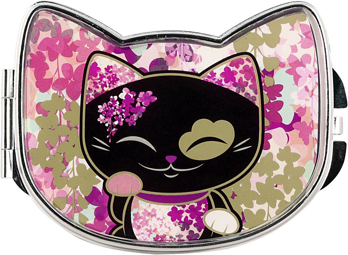"Фото Зеркало карманное Mani The Lucky Cat ""Кот Удачи"". Код MF084"