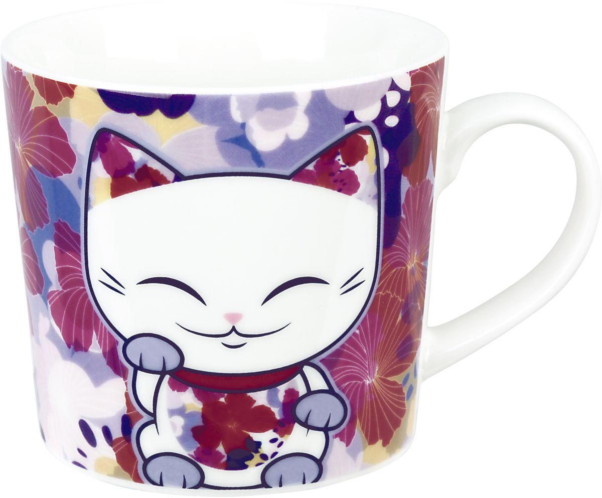 """Забавная фарфоровая кружка с изображением """"Кота Удачи"""", который приносит успех во всем. Понравится всем ценителям прекрасного."""