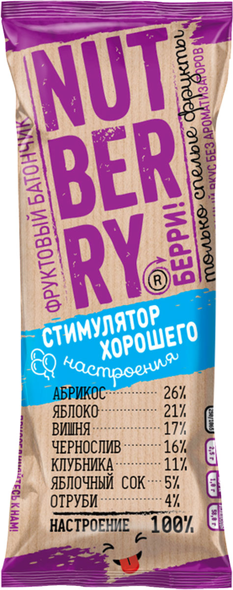 NutberryФруктовый батончикабрикос яблоко,30г кукуруза mikado молодые початки 330г