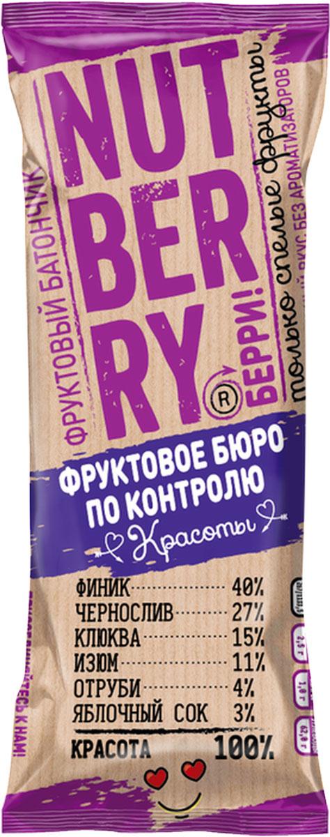 NutberryФруктовый батончикфиник клюква,30г roobar cacao nibs organic батончик 30 г