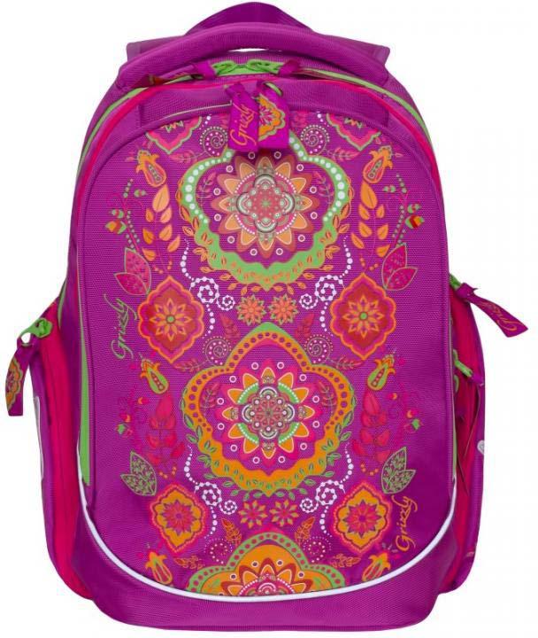 Grizzly Рюкзак школьный цвет фуксия RG-867-2/2 рюкзак grizzly rg 867 2 2 fuchsia