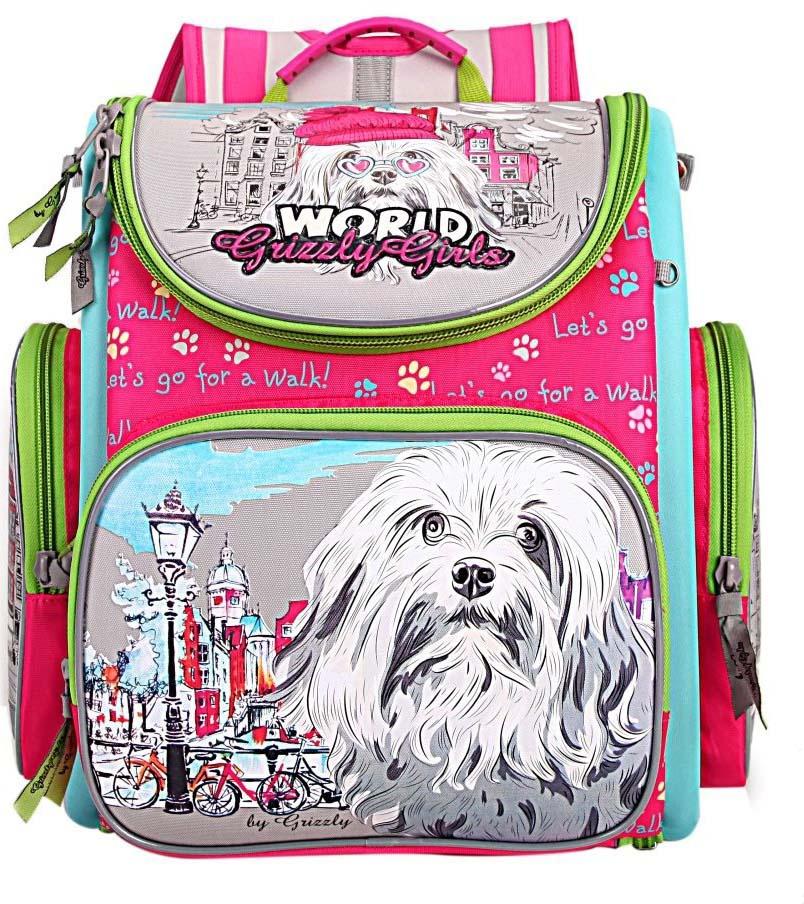 Grizzly Рюкзак школьный с мешком цвет фуксия RA-871-1/1 hummingbird hummingbird школьный рюкзак тк с мешком для обуви фиолетовый