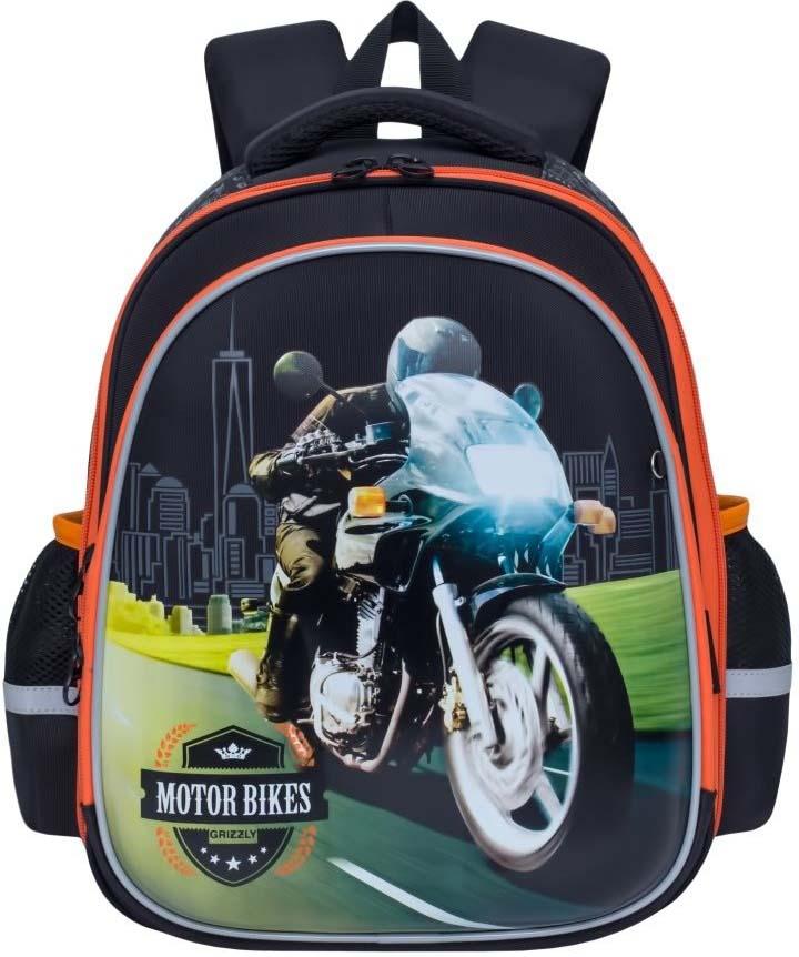 Grizzly Рюкзак школьный цвет черный RA-878-2/1 рюкзак для мальчика elisir цвет черный de dv009 gs0007 000