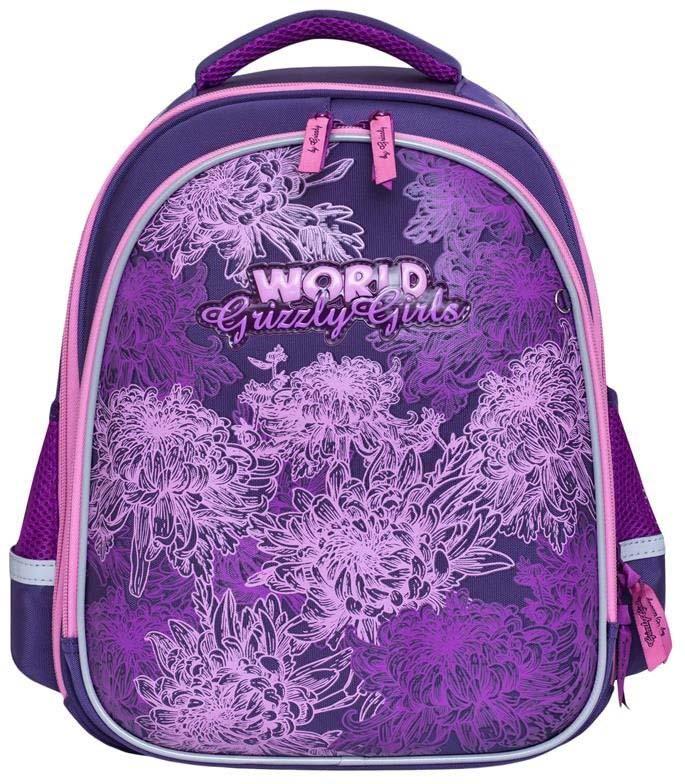 Grizzly Рюкзак школьный цвет фиолетовый RA-879-4/1 grizzly рюкзак школьный цвет фиолетовый ra 879 4 1