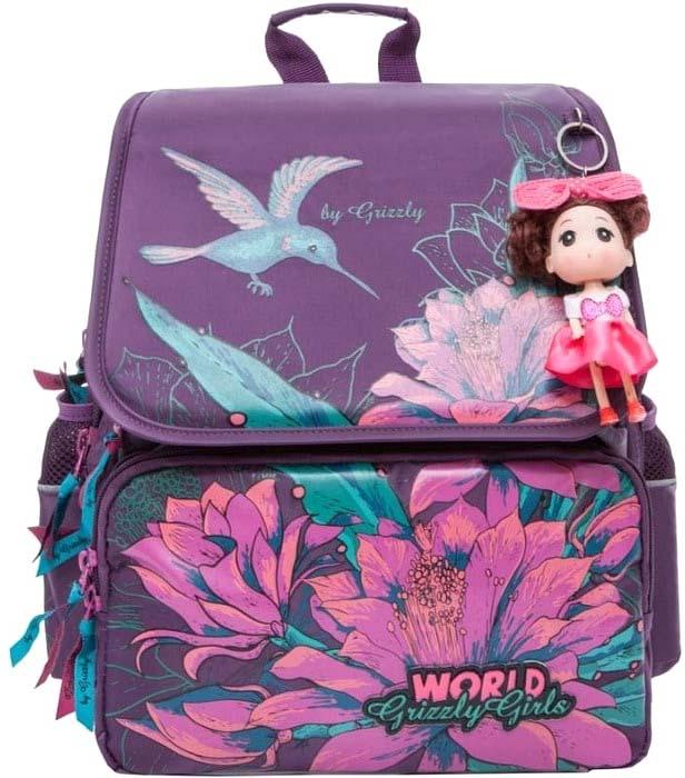 Grizzly Рюкзак школьный цвет фиолетовый RA-672-11/3 grizzly рюкзак школьный цвет фиолетовый ra 879 4 1