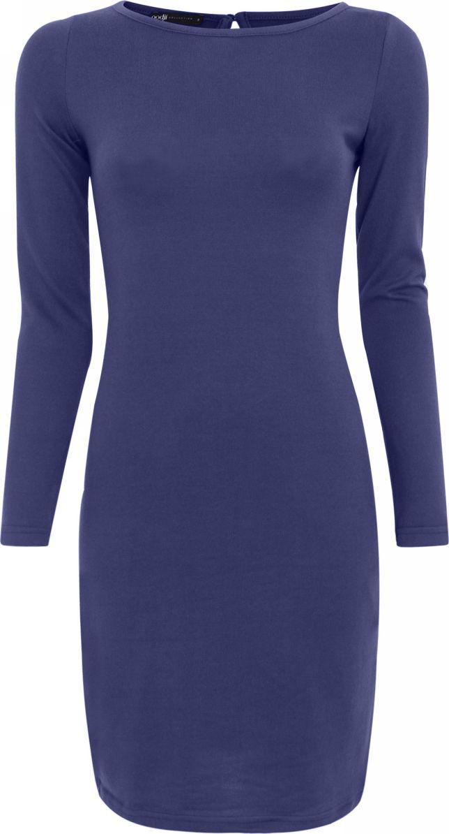 Платье oodji Collection, цвет: темно-синий. 24001070-2/15640/7900N. Размер M (46)