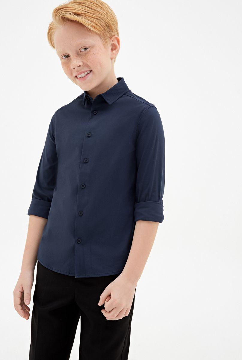 Рубашка для мальчика Concept Club Borasco, цвет: темно-голубой. 10140280004_600. Размер 134