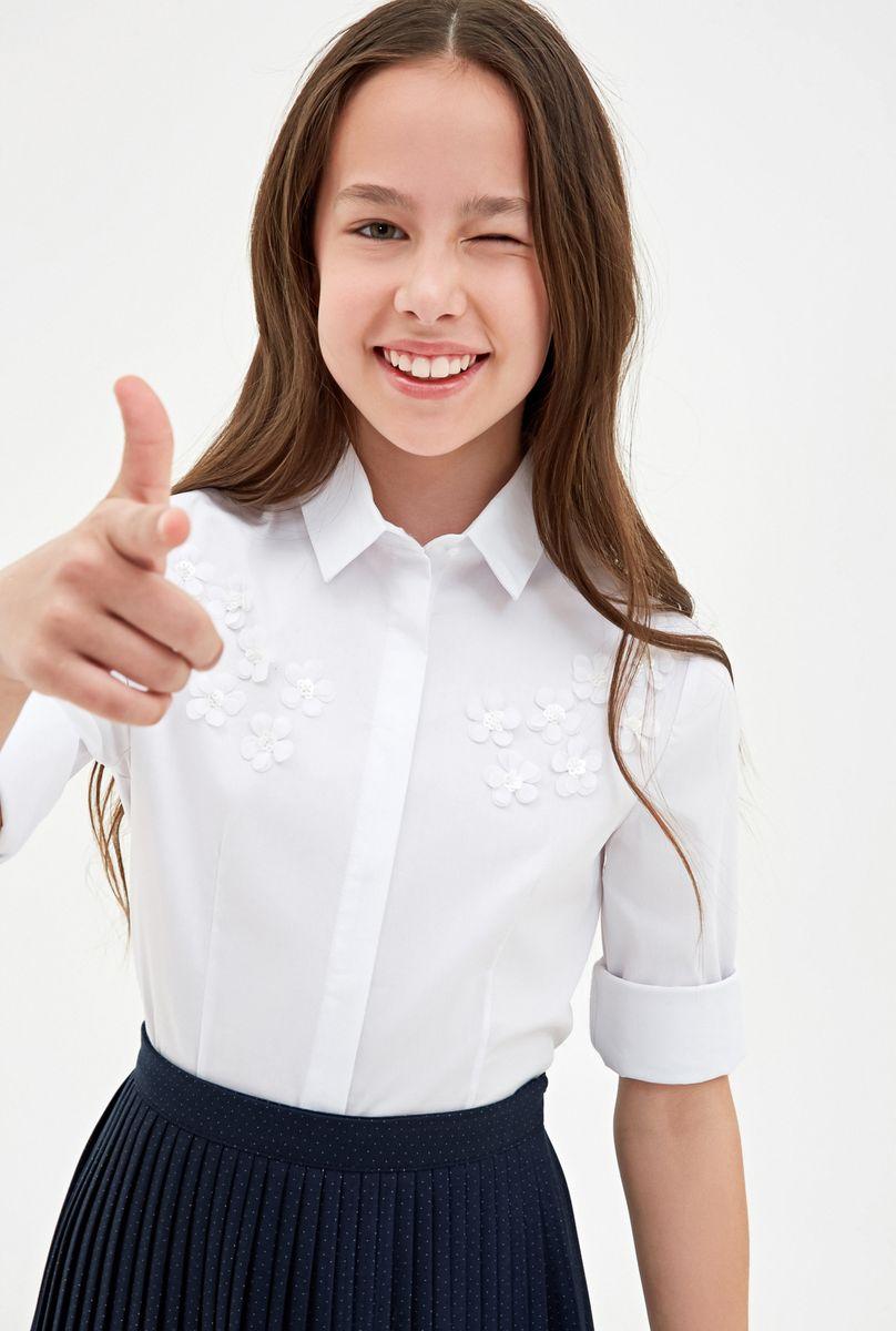 Блузка для девочки Concept Club Ungaro, цвет: белый. 10240260005_200. Размер 152