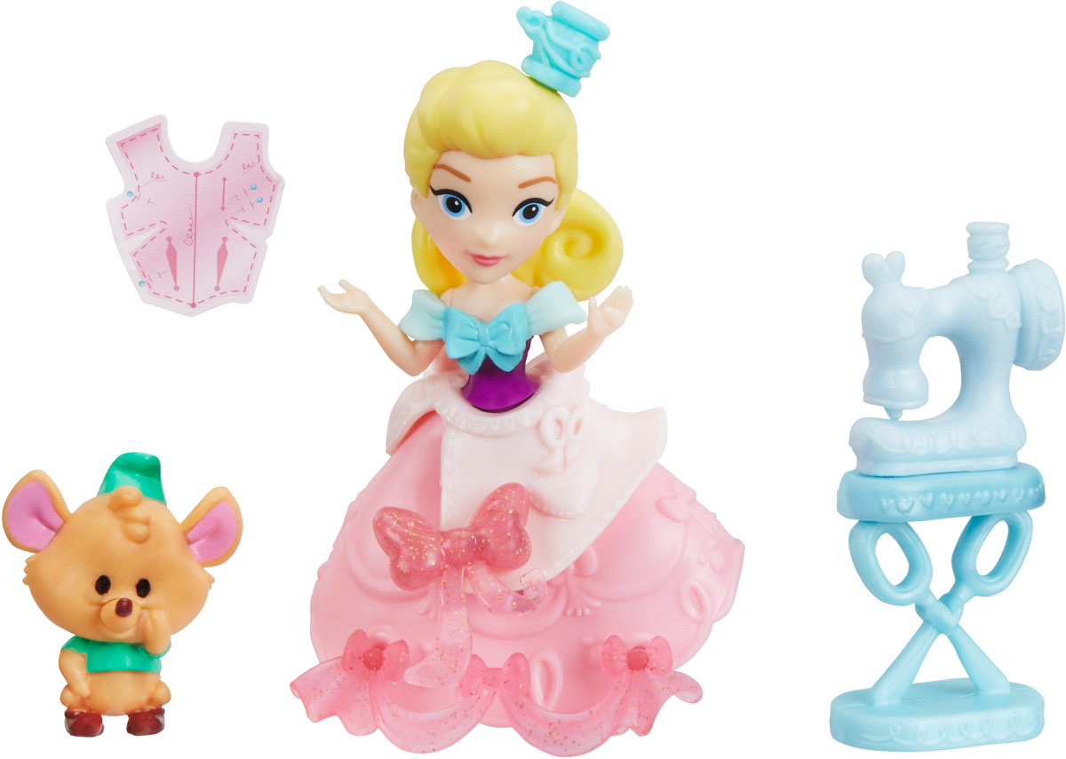 Disney Princess Набор фигурок Cinderella Stitch'n Sew Party стеллар неваляшка мила стеллар