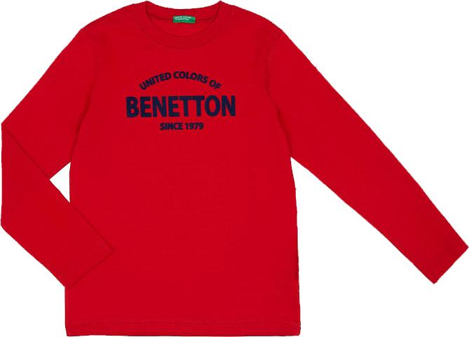 Футболка с длинным рукавом для мальчика United Colors of Benetton, цвет: красный. 3I1XC13VD_015. Размер 170