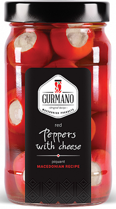 Gurmano Перчики красные фаршированные белым сливочным сыром, 470 г вкусная помощь сахарная вата снег 30 г