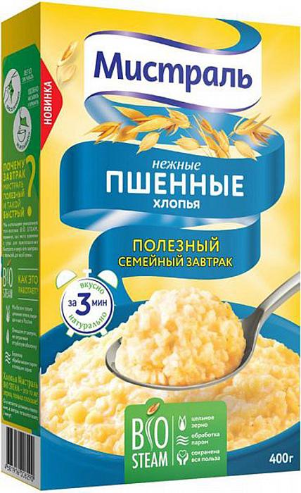 Мистраль Хлопья Пшенные Нежные, 400 г nutrilon смесь молочная детская nutrilon pre 400 г