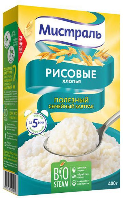 Мистраль Хлопья Рисовые Нежные, 400 г мистраль рис акватика mix 500 г