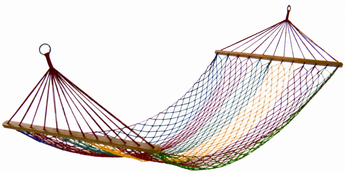 Гамак-сетка KingCamp Net Hammock, цвет: синий, красный, 200 х 100 см 30pcs lot outdoor single person hammock 230 90cm survival parachute travel tourism leisure camping strone rope hammock za1071