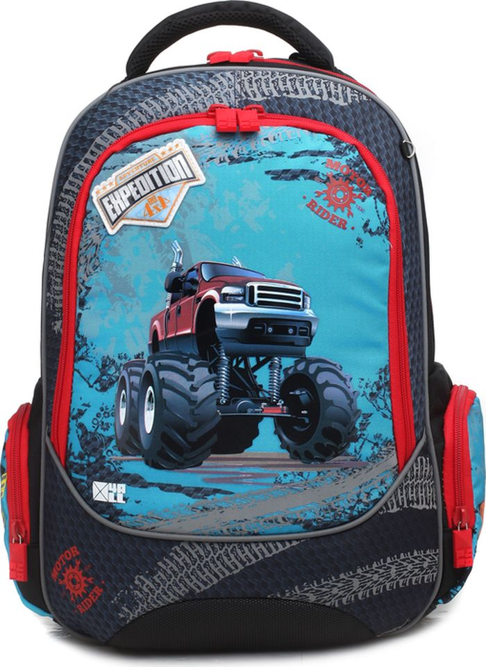 4ALL Ранец школьный School Машина кроссовки женские adidas advantage clean qt цвет темно синий f97212 размер 5 5 37 5