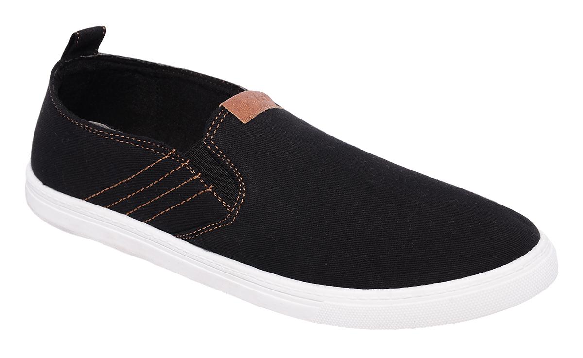 Слипоны мужские In Step, цвет: черный. J703s-1. Размер 41