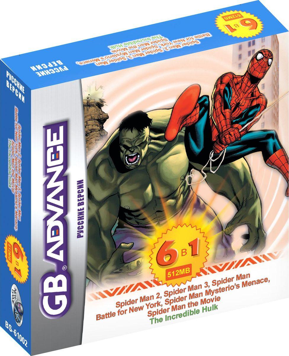 NewGame BS61002 6в1 игровой картридж для GBA