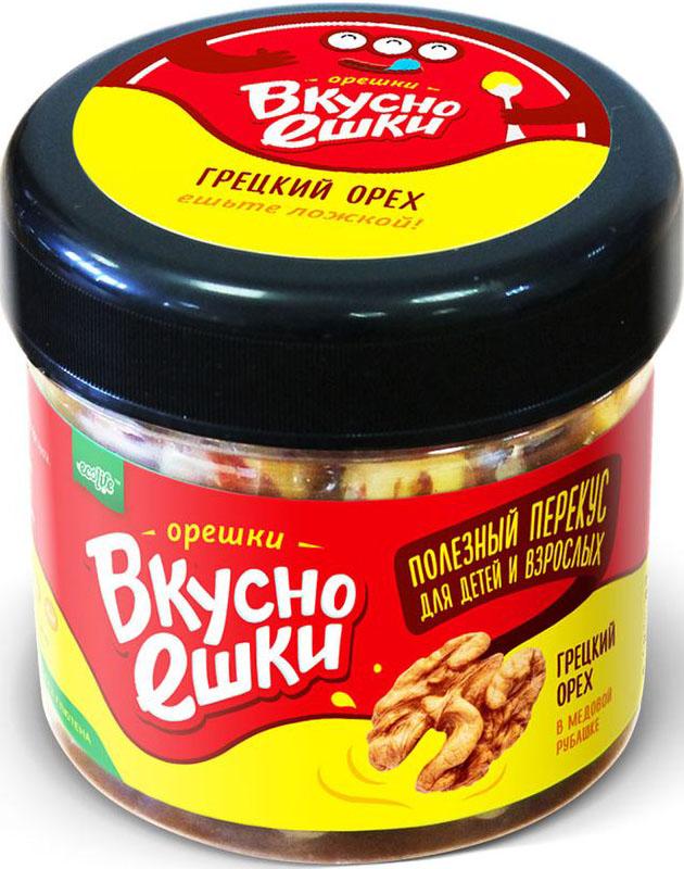 Вкусноешки Грецкий орех в медовой оболочке, 80 г Грецкий орех и взбитый мёд – великолепный десерт, обладающий...